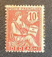 Timbre-poste Neuf * Dédéagh N°11 10c Rose Avec Trace De Charnière - Neufs