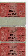 F 14  1945 Tickets De Rationnement  Coton - Oorlog 1939-45