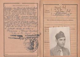 Classe 1933 LIVRET MILITAIRE De Marcel GUITARD Maitre Armurier - Unités Méharistes, Algérie - Tunisie - Historische Documenten