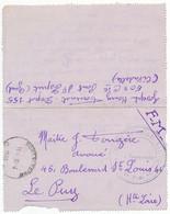 GARD LAC 1940 PONT ST ESPRIT FM DEPOT GUERRE 155 VERSO HENRY FOURNAT DEPOT 155 50° CIE POT ST ESPRIT (GARD) (CITADELLE) - 1921-1960: Periodo Moderno