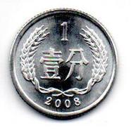 Chine - 1 Fen 2008 - UNC - China