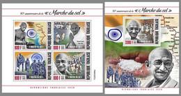 TOGO 2020 MNH Mahatma Gandhi Salt March Salzmarsch Marche Du Sel M/S+S/S - OFFICIAL ISSUE - DHQ2101 - Mahatma Gandhi