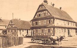 Hunspach -  Ecole Et Mairie - Photo E. Muller - Héliographie Dernières Nouvelles D'Alsace - Other Municipalities
