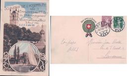Vevey La Tour De Peilz VD, Assemblée Des P.T.D. Le 2 Août 1914 Et F.S.E.P En 1920 (26.7.1920) - VD Waadt