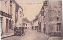 21. VITTEAUX. Rue Haute De La Ville Et Hôtel De L'Ecu - Otros Municipios