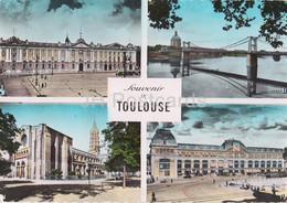 Souvenir De Toulouse - Le Capitole - Le Pont St Pierre Et Le Dome De La Grave - Multiview - 1954 - France - Used - Toulouse