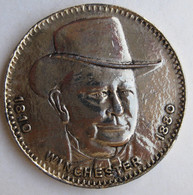 Médaille Oliver P. Winchester 1810 1980. Célèbre Pour Sa Carabine à Répétition. - Professionali/Di Società
