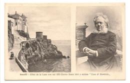 """AMALFI - HOTEL DE LA LUNE OVE  NEL 1879 ENRICO IBSEN IDEO' E SCRISSE """"CASA DI BAMBOLA"""" - Salerno"""