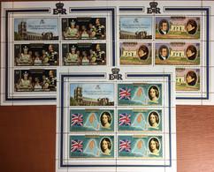Aitutaki 1977 Silver Jubilee 3 Sheetlets MNH - Aitutaki