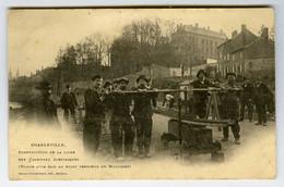 08 .CPA.CHARLEVILLE. TRAMWAY. CONSTRUTION DE LA LIGNE DES TRAMWAYS ELECTRIQUES. - Charleville