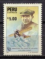 Peru 1986 / Aviation Airplane Aircraft MNH Aviación Luftfahrt / Jo36  36-40 - Aerei