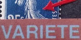 R1306/176 - 1907 - TYPE SEMEUSE CAMEE - N°140b Mill.7 (IA) Bleu Noir TIMBRES NEUFS** - VARIETE ➤➤➤ Anneau Lune - Abarten: 1900-20 Ungebraucht