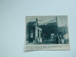 """Origineel Knipsel ( A 123 ) Uit Tijdschrift """" De Stad """"  1933 :  Brand   Geel  Elsum - Zonder Classificatie"""