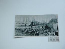 """Origineel Knipsel ( A 126 ) Uit Tijdschrift """" De Stad """"  1933 :  Brand   De Klinge - Zonder Classificatie"""
