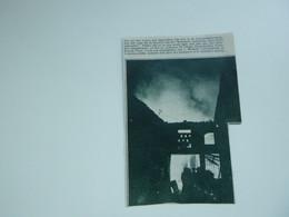 """Origineel Knipsel ( A 129 ) Uit Tijdschrift """" De Stad """"  1933 :  Brand   Lokeren - Zonder Classificatie"""