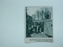 """Origineel Knipsel ( A 130 ) Uit Tijdschrift """" De Stad """"  1933 :  Brand   Aalst - Zonder Classificatie"""