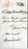 Österreich 1831, Zieroval-Stpl. NEUDORF Klar Auf Reko Brief N. Purkersdorf - Unclassified