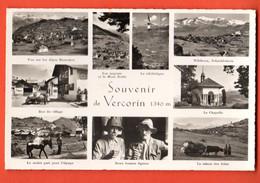 CAE-32 Souvenir De Vercorin Multivues ANIME,rue Du Village, Mulet, Vaches D'Hérens Klopfenstein 10290, Non Circulé - VS Valais