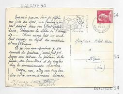 CPSM - Publicité Concessionnaire SIMCA - Garage à Compiègne - Flamme MEGEVE 1958 - Skieur- Voir Scan - Passenger Cars