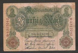 Germania - Banconota Circolata Da 50 Marchi P-41 - 1910 #17 - 50 Mark
