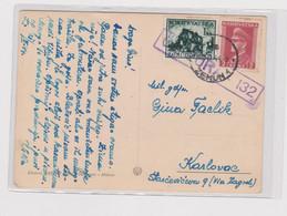 CROATIA WW II ZEMUN 1944 Censored Postcard To Karlovac - Croatia