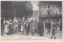 AR55 Guerre 14-18  MASSEVAUX MASEVAUX Pétain Sortant Alsace Reconquise 10 Homeyer Ehret -BIRH Ficellerie Cablerie Est - Oorlog 1914-18