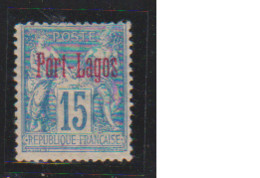 PORT LAGOS    N°  YVERT  :  3  NEUF AVEC  CHARNIERES      ( Ch  2 / 49 ) - Unused Stamps