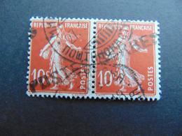Magnifique Et Rare Paire Du N°. 5 Des Postes Serbes à Corfou Oblitéré Par Oblitération En Caractères Cyrilliques - Kriegsausgaben