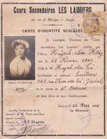 5 Cartes D'identité Scolaire 1956 à 1960 Même étudiante Du Lycée Les Lauriers Rue De Massiges à Saigon Indochine Vietnam - Documenti Storici