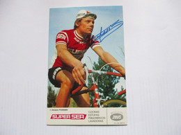 Cyclisme Photo Signee Gerard Fussien - Cycling