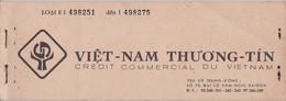 Saigon Carnet Complet De 25 De Chèques Du Crédit Commercial Du Vietnam Années 1960 Indochine - Cheques & Traveler's Cheques