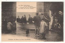 50 - LE MONT-SAINT-MICHEL - L'Entrée Du Mont Saint-Michel En Temps De Grandes Marées - Le Mont Saint Michel