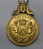 OOSTENDE  7 AVRIL 1907  INAUGURATIONS DU FANION   4 CM DIAM - Zonder Classificatie