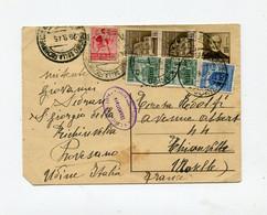 !!! PRIX FIXE : RARE ENTIER POSTAL DE PROVESANO DU 29/8/1945 POUR LA FRANCE - Marcophilia