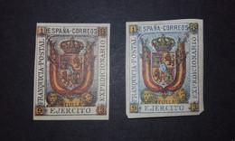 1893 Escudo De España Franquicia Militar - Ejercito En Africa - Melilla - Edifil 1/2 SIN DENTAR - Franquicia Militar