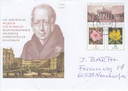 Michel Nummer 2034  250. Geburtstag Wilhelm Von Humbold - Bilddungsreformer,Saarbrücken 1 - Briefe U. Dokumente