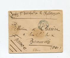 !!! CORPS D'OCCUPATION DE MADAGASCAR, LETTRE DE TANANARIVE DE 1900 CACHET BLEU AU VERSO - Briefe U. Dokumente
