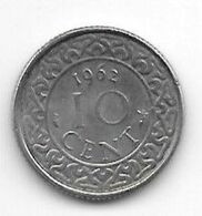 Suriname 10  Cents 1962  Km 13   Xf+/ms60 - Surinam 1975 - ...