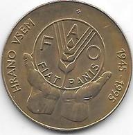 *slovenia 5 Tolarjev 1995 FAO  Km 21  Xf+ - Eslovenia