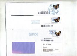 Lettre Poste Privée Pin Cachet Berlin Sur Papillon - Marcofilie - EMA (Printmachine)