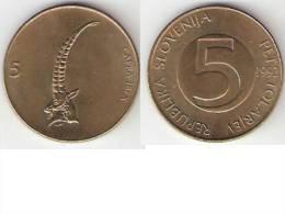 Slovena,5 Tolar 1992 ,km 6,xf+ !!!!!!! - Eslovenia