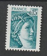 Variétés - 1977- 78  - Type Sabine -  N° 1966b  - 0.15f Vert   -  Gomme Tropicale   -  Neuf Sans Charnière - Curiosità: 1970-79  Nuovi
