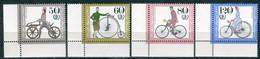 A14-18-9) BRD - Mi 1242 / 1245 ECKEN LIU ✶✶ - Historische Fahrräder, Jugend 85 - Unused Stamps
