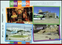 Ref. BR-V2020-16 BRAZIL 2020 ARCHITECTURE, PORT AREA OF RIO DE, JANEIRO, UPAEP, AMERICA SERIES, S/S MNH, 4V - Blokken & Velletjes