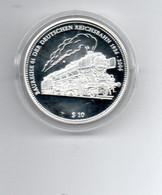 NAURU $ 10,-- 2006 ZILVER PROOF TREIN TRAIN BAUREIHE 01 DER DEUTSCHEN REICHSBAHN 1926/2006 - Nauru