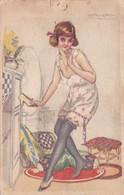 Mauzan, Illustratore - Cartolina Liberty Viaggiata Da Milano A Torino Nel 1921 - Mauzan, L.A.