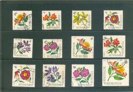 Fleurs Du BURUNDI - 12 Valeurs - Collections
