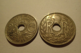 1929 - France - 25 CENTIMES, Lindauer, KM 867a, Gad 380 - F. 25 Centesimi
