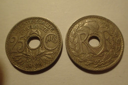 1928 - France - 25 CENTIMES, Lindauer, KM 867a, Gad 380 - - F. 25 Centesimi