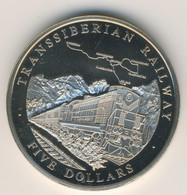 LIBERIA 2004: 5 Dollars, Transsiberian Railway - Liberia